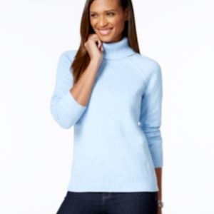 NWT Karen Scott Women's Cotton Turtleneck Sweater